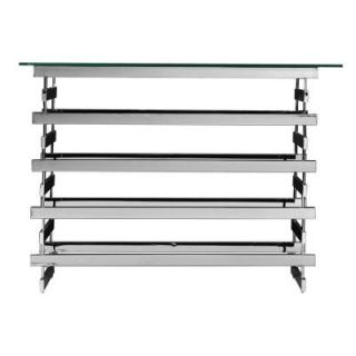 Southern Enterprises Germania Chrome Console Table HD073736